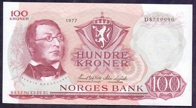 100 Kroner From Norway 1977 UNC A1