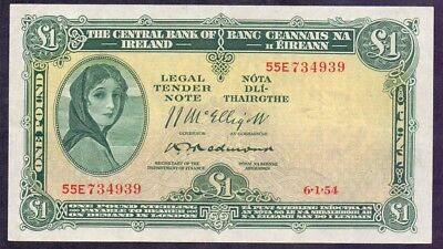1 Pound From Ireland 1954 UNC A1