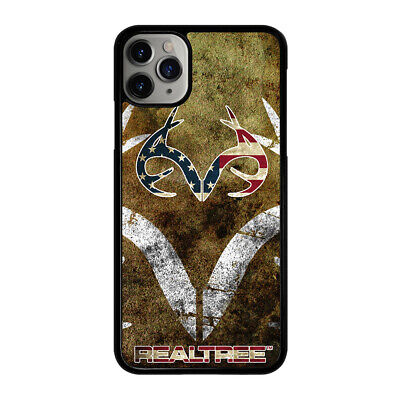 best service 3c393 b5153 REALTREE DEER CAMO USA iPhone 4 4S 5 5S 5C 6 6S 7 8 Plus X XS Max XR Phone  Case
