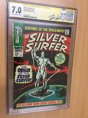 Silver Surfer #1 Signed Stan Lee CGC 7.0 - With set of other comics and notebook