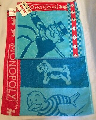 Monopoly Washcloth & Hand Towel Bath Set By Hasbro Jay Franco With Tag 2002