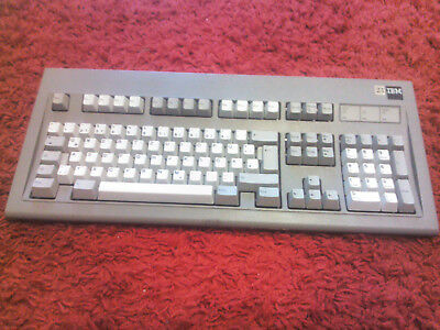 IBM Industrial Tastatur Keyboard grau grey getestet funktioniert IBM Model M