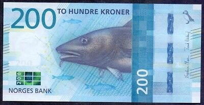 200 Kroner From Norway 2016 UNC A1