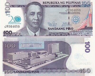 Philippines 100 Piso (2013) - 20 Year BSP Commemorative/p218 UNC