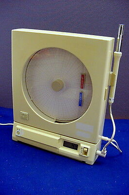 Very Good Used Omega Electronic Circular Temp / Humid Chart Recorder W/cd Manual