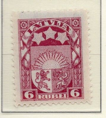 Latvia 1921-22 Early Issue Fine Mint Hinged 6s. 215360