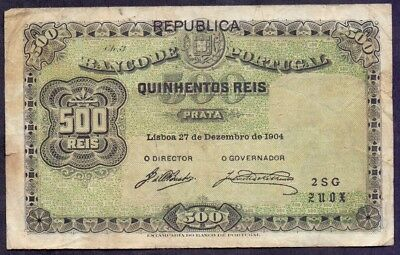 500 Reis From Portugal 1904 A1