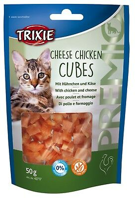 Friandise Snack Chats CHEESE CHICKEN CUBES 50gr (x4pcs) Cat