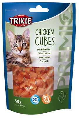 Friandise Snack Chats CHICKEN CUBES 50gr (x4pcs) Cat