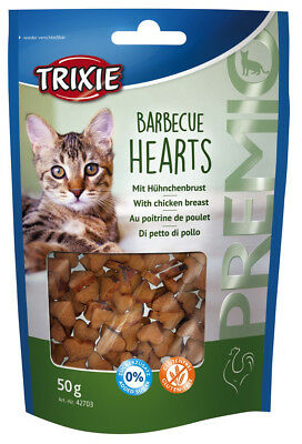 Friandise Snack Chats BARBECUE HEARTS 50gr (x4pcs) Cat