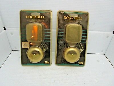 Vintage Trine 172C Door Bell Pair 2.5 Inch 1986 Nos In Original Package