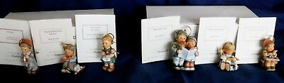 "Hummel Studio Christmas Ornaments - Set 1 ""1998"" Set 11 ""2001"" Orginal Boxs"