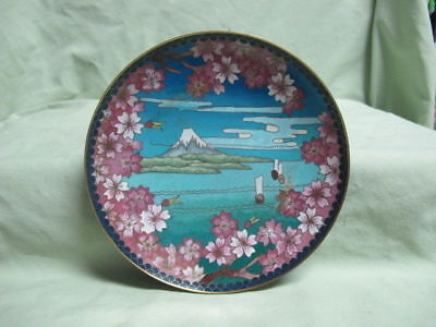 Antique Cloisonne Plate with Scene