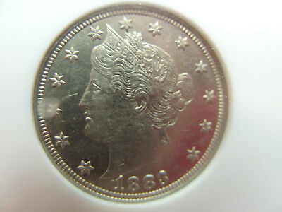 1883 NO CENTS Liberty Nickel 5C uncirculated Proof Like surfaces Graded MS62 NGC