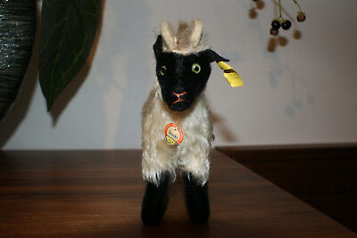 Steiff Tier Heideschaf Mountain Sheep Snucki Knopf, Fahne 1317,00 Schild komplet