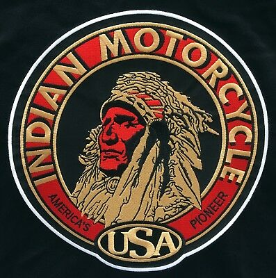 """🏍️9"""" INDIAN MOTORCYCLE Head Logo Iron-on Patch-(For Leather/Vest/Sweater/Shirt)"""