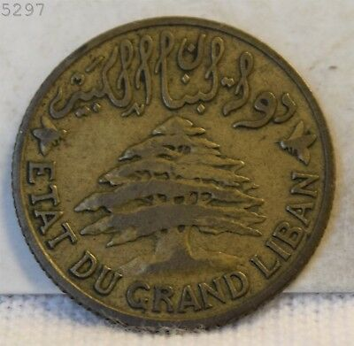 1925 Lebanon 5 Piastres  *Free S/H After 1st Item*