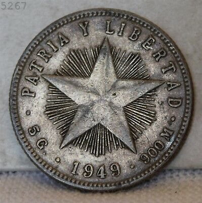 1949 *Silver* Patria Y Libertad *Free S/H After 1st Item*