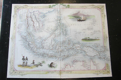 East India - Map of Malay Archipelago, from Tallis's Illustrated Atlas, 1851