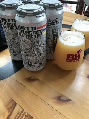 Heres To Feeling good All The Time Ale Bissell Brothers Brewing 4 Beer Cans