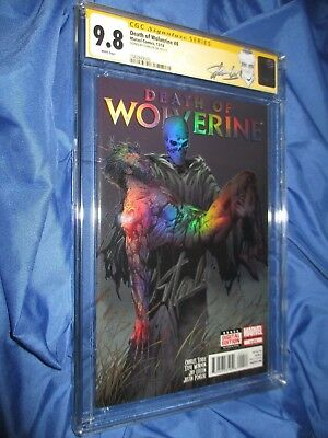 DEATH OF WOLVERINE #4 CGC 9.8 SS Signed by Stan Lee ~Foil Cover (Ex. Label)