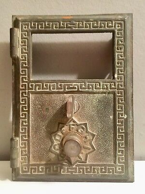Vintage Double Alphabet Combo Lock U.S. Eagle Brass Postal Box Door