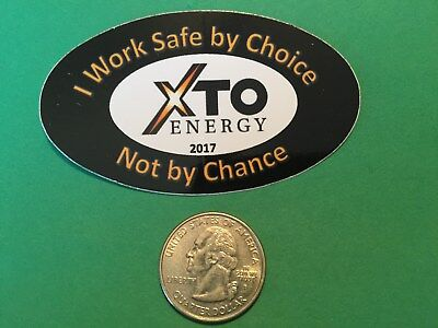Xto Energy Drilling 2017 Decal Hardhat Gas Well Drilling Oilfield Oilwell Oil Us