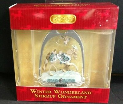 NEW! Breyer 2017 Winter Wonderland Silver Stirrup Ornament Holiday Horse