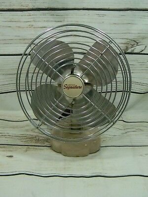 "Vintage Wards Signature Metal Table or Wall Mount Fan 8"" Diameter"