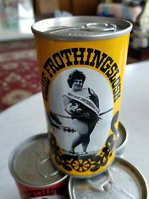 Four Olde Frothingslosh Beer Cans From Original Set