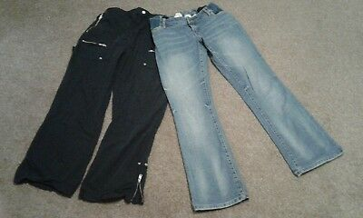 Maternity cargo trousers and jeans bundle 12s short Mamas and Papas New Look