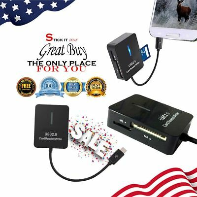 Card Reader External USB Adapter Android Phone Trail Camera Viewer Game SD MSD