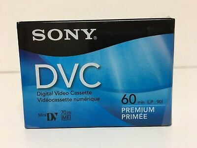 Sony DVC Digital Video Tapes Mini DV 60-min LP 90 min Premium Camcorder Lot of 2