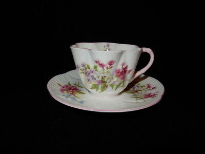 "Shelley ""Stocks"" Fine Bone China Cup and Saucer England"
