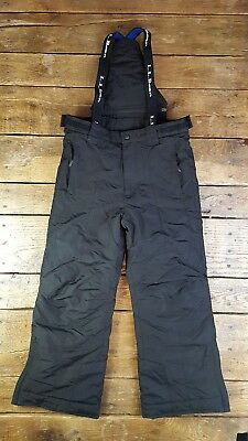 LL Bean Black Thinsulate Insulated Bib Pants Overalls Snowboard Kids Youth SZ 8