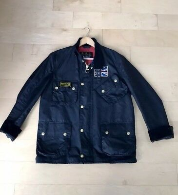 Brand New Men's Barbour International Union Jack Wax Utility Jacket With Belt