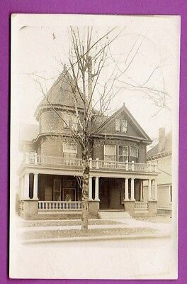 pre1931 RPPC Chapin Home on TALBOTT AVE Indianapolis IN GILBERT'S