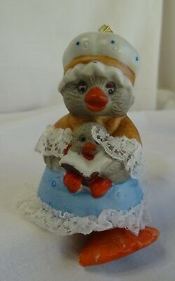 Caring Critter Chimers - Bisque Porcelain Bird & Baby Fancy Bell - Nwot