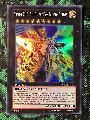 1x Yu-Gi-Oh! - Number C107: Neo Galaxy-Eyes Tachyon Dragon PRIO-EN041 - Super