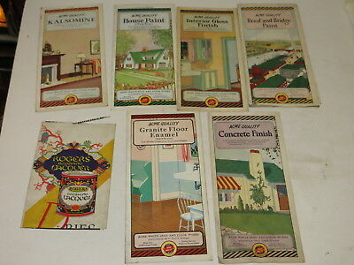 % Lot Of 7 Vintage Acme White Lead & Color Works Interior Home Brochures %