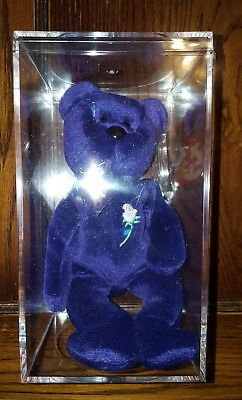 One Ty Beanie Baby Bear Princess Diana Collectible 1997 Indonesia Double Tag