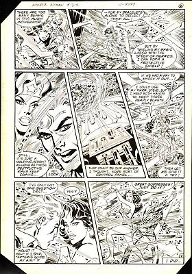1984 Wonder Woman #312 Pages 2 & 3 Comic Original Art Don Heck Dc Comics