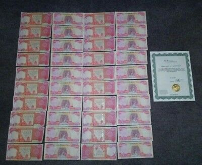1 Million Iraqi Dinar = 40 Notes x 25,000 IQD - Uncirculated - Certified
