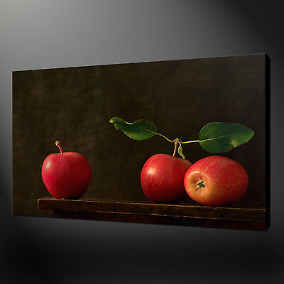 Red Apples Kitchen Art Canvas Print Wall Design Ready To Hang