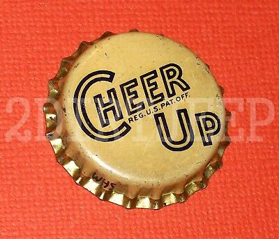 Cheer Up Soda Vintage 7Up Copycat Free Ship Pop Drink Cork Unused Bottle Cap F