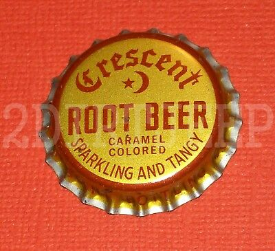 Free Ship Cresent Root Beer Soda Vintage Pop Drink Cork Old Unused Bottle Cap F