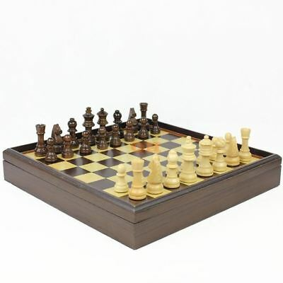 High Quality Wooden Chess Set 32 Pieces Traditional Medieval Game Toy