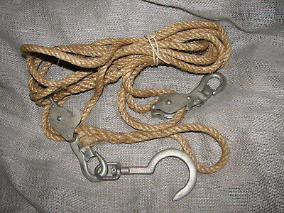 Klein and Sons Block and Tackle 1802-30 Manilla Rope Puller Lineman