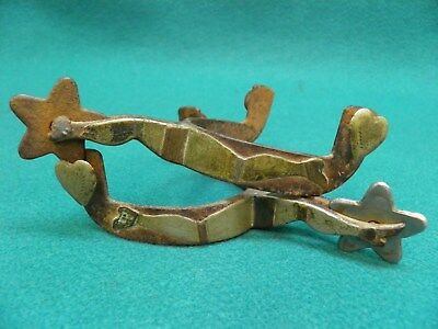 Vintage Antique - Extrmely Rare Pair Of K. B. & P Gal Leg -Western Cowboy Spurs