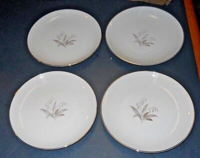 "Vintage Lot Of 4 Kaysons Fine China Saucers 6 1/2""  Golden Rhapsody 1961 Japan"